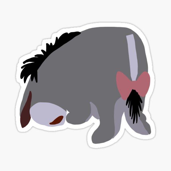 Sad Donkey Sticker Sticker