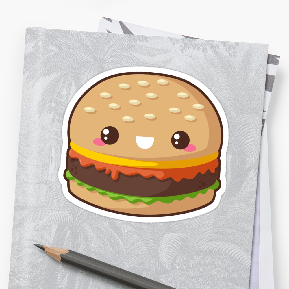 Quot Kawaii Cheeseburger Quot Sticker By Pai Thagoras Redbubble