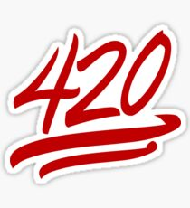 420 Emoji Sticker Sticker