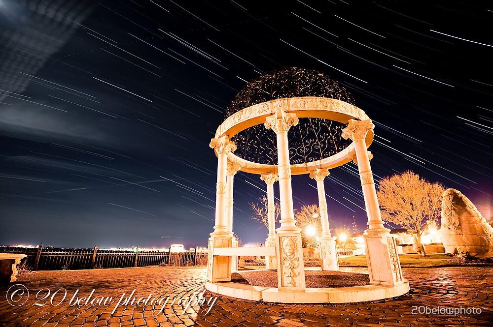 rose garden star trail by 20belowphoto