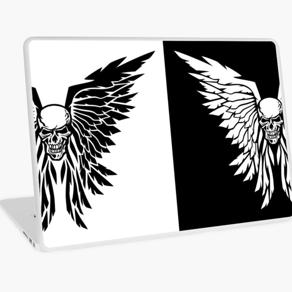 Classic Skull And Wings Laptop Skin