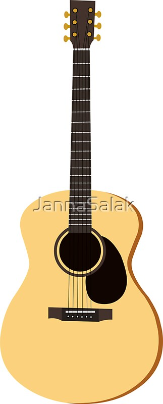 acoustic guitar stickers redbubble. Black Bedroom Furniture Sets. Home Design Ideas