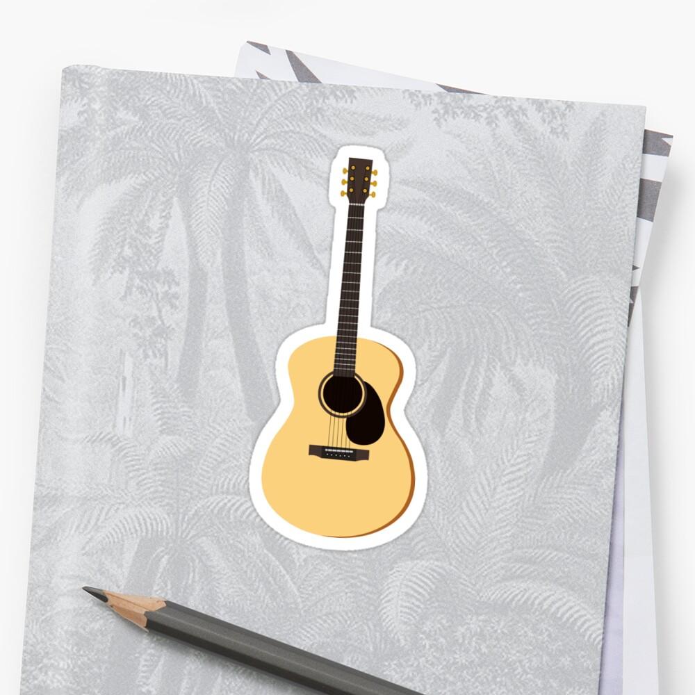 acoustic guitar sticker by jannasalak redbubble. Black Bedroom Furniture Sets. Home Design Ideas