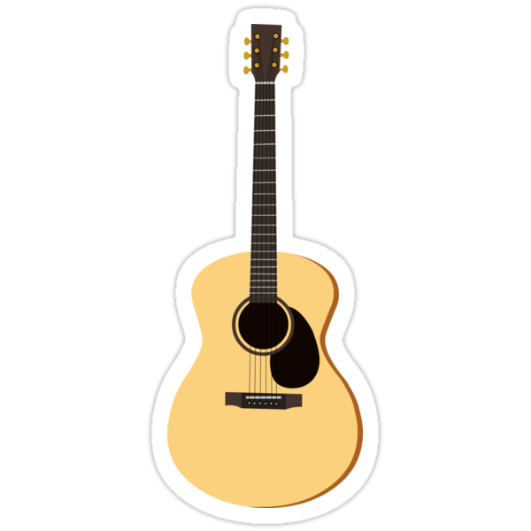 acoustic guitar stickers by jannasalak redbubble. Black Bedroom Furniture Sets. Home Design Ideas