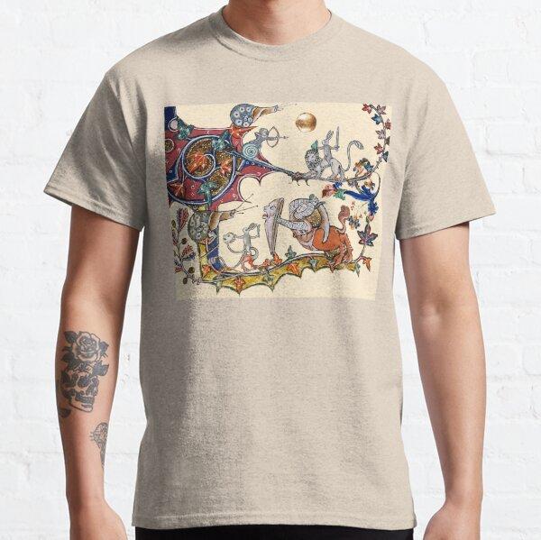 GUERRE BESTIAIRE MÉDIÉVALE ÉTRANGÈRE Entre escargots et lapins tueurs, Lion, Chevalier centaure T-shirt classique