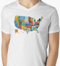 License Plate Map of The United States 2012 Edition 3 on White T-Shirt