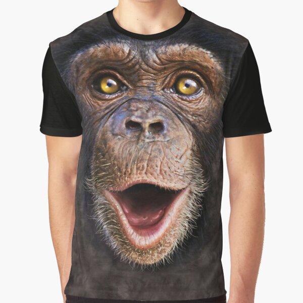 Cute Animal Happy Chimp- Monkey Face Gift Graphic T-Shirt
