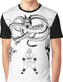 Brolly Vs Goku & Vegeta - Under The Eternal Dragon (Manga Style) Graphic T-Shirt