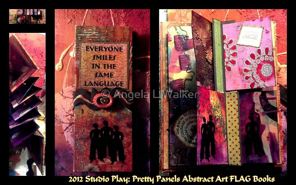 2012 Studio Play - Pretty Panels Abstract Art Books by © Angela L Walker