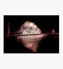 Fireworks - 75th Anniversary of the Golden Gate Bridge Photographic Print