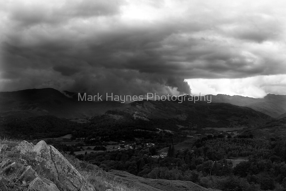 Wetherlam Storm From Loughrigg Summit by Mark Haynes Photography