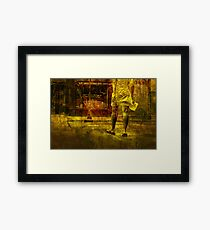 Pedestrian On the Move No.8 Framed Print