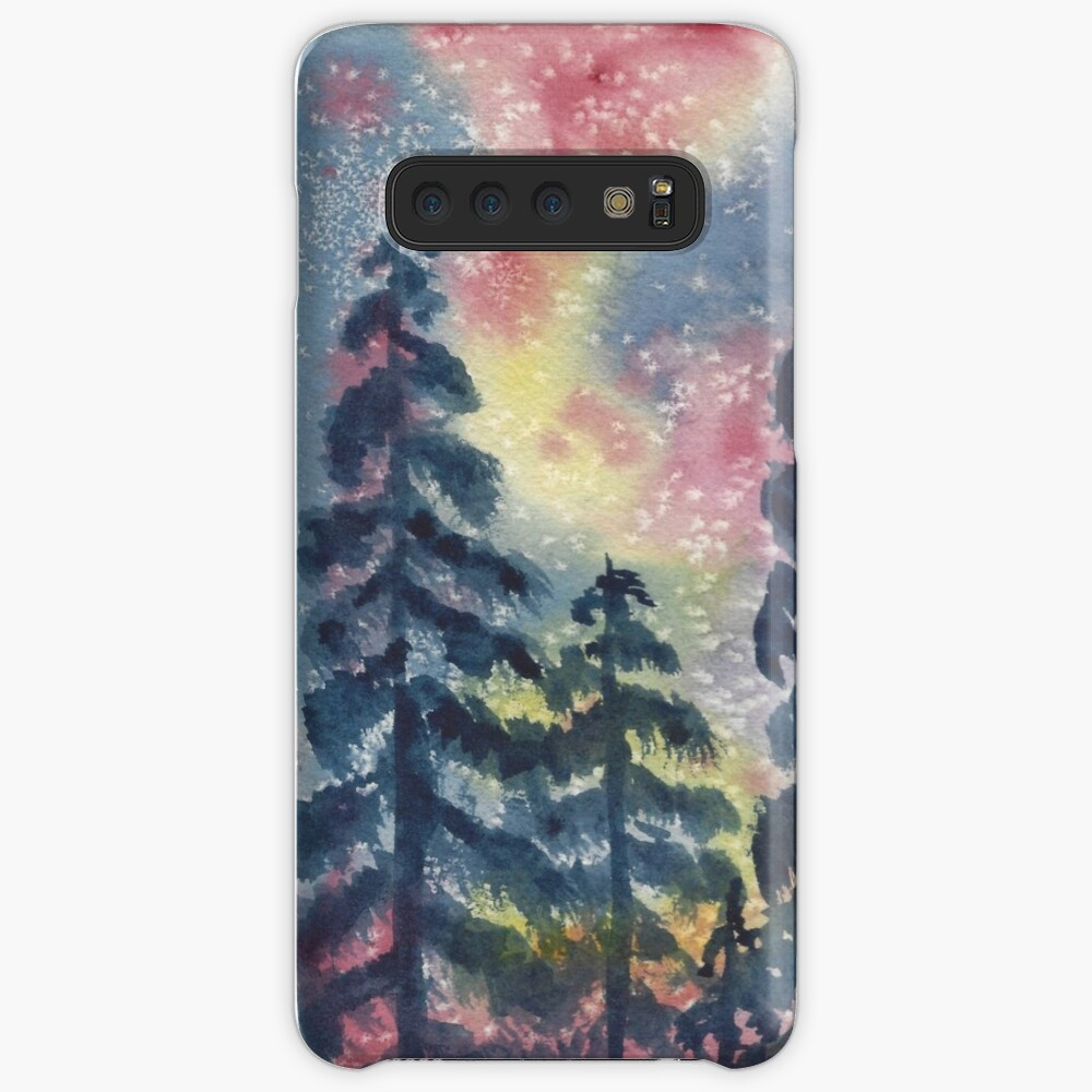The Aurora Borealis and the Pines  Samsung Galaxy Phone Case