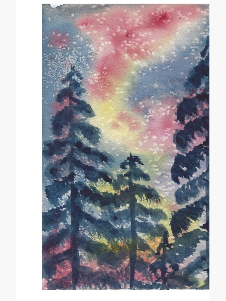 The Aurora Borealis and the Pines  by ArtChildGalore
