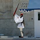 Greek traditional costume guard -Parliament by shelfpublisher