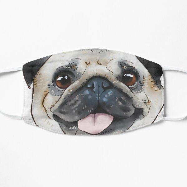 Pug face Flat Mask