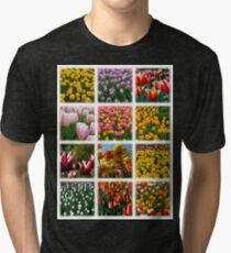 Tulips Montage 1 Tri-blend T-Shirt