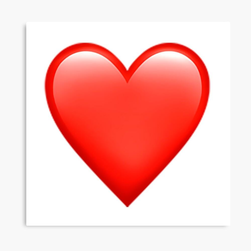 Impression métallique « Emoji coeur rouge », par aMemeStore   Redbubble