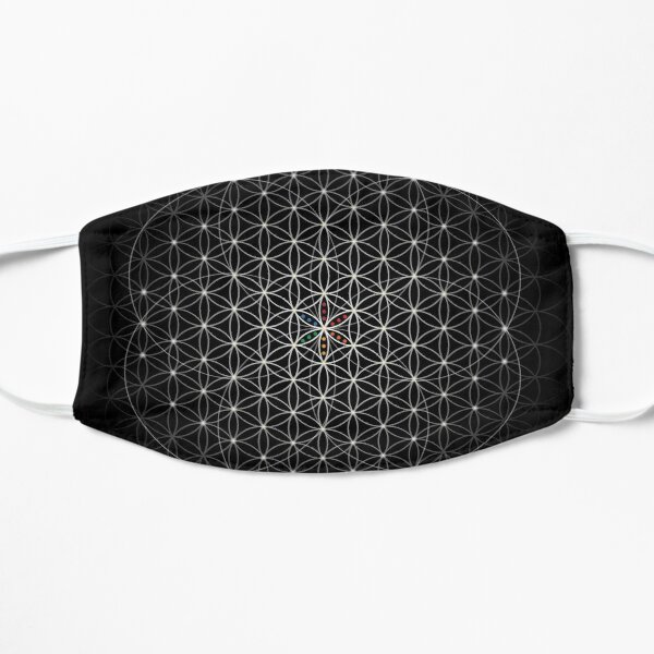 Sacred Geometry of The Flower of Life  Flat Mask