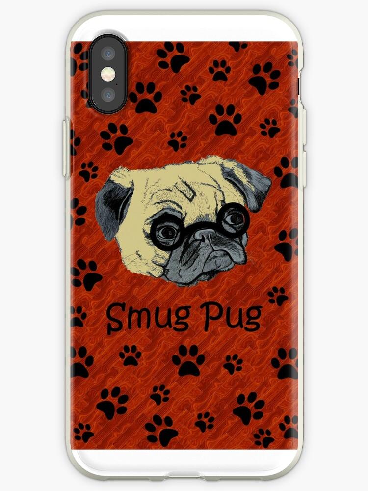 Adorable Smug Pug iPhone & iPod Cases by Patricia Barmatz