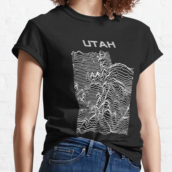 Utah - Unknown Elevations Topography Map Classic T-Shirt
