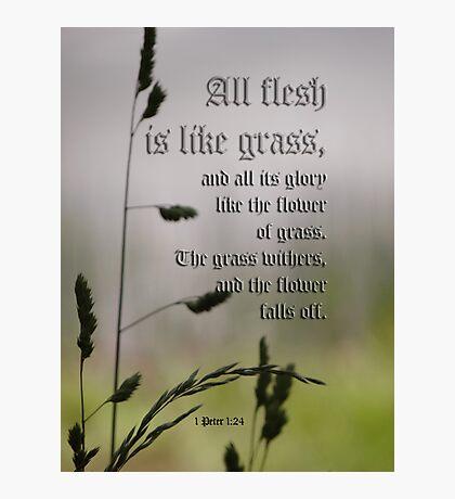 All flesh is like grass-inspirational Photographic Print