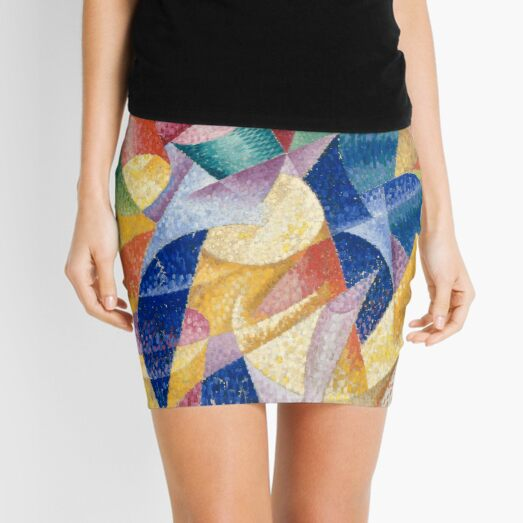 artist, painter, craftsman, Gino Severini, futurism, futurist, art Mini Skirt