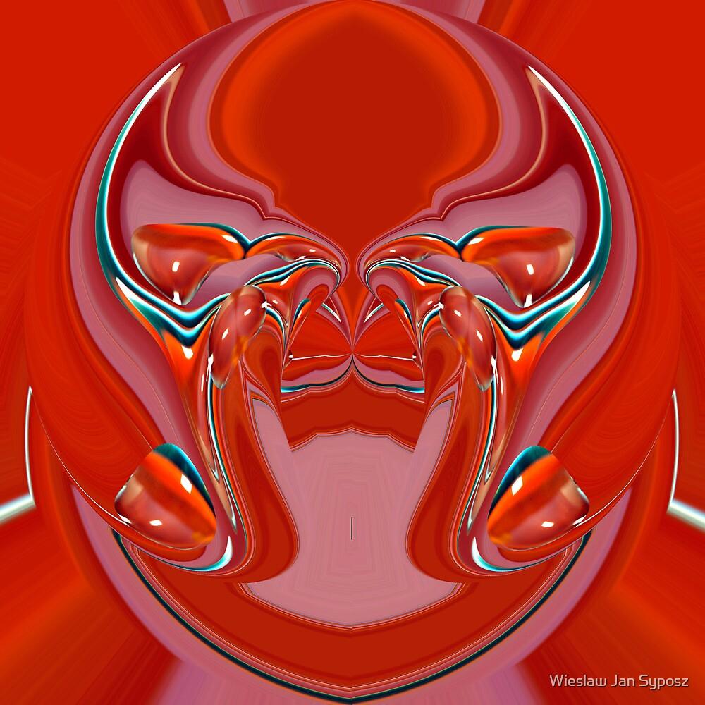 red alien by Wieslaw Jan Syposz