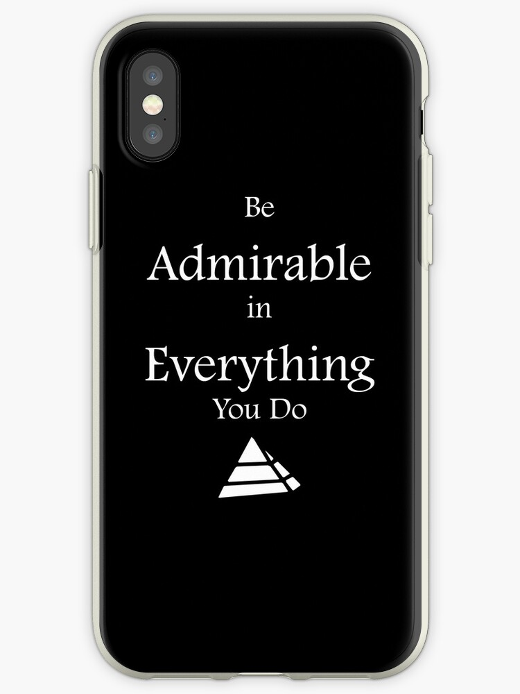 Be Admirable iCase by Devon Howton