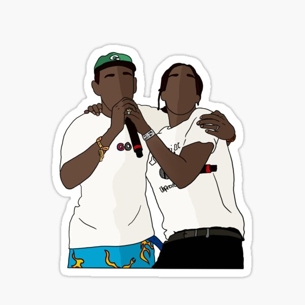 Tyler the creator and A$AP Rocky  Sticker