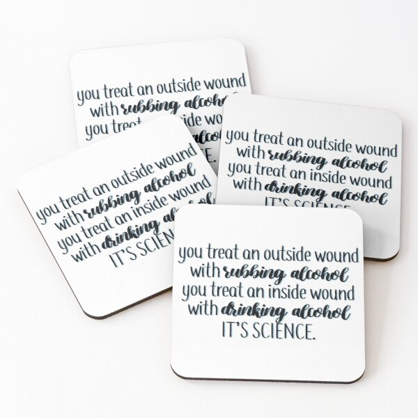 drinking alcohol quote new girl Coasters (Set of 4)