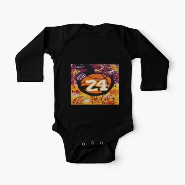 Mamba negro Body de manga larga para bebé