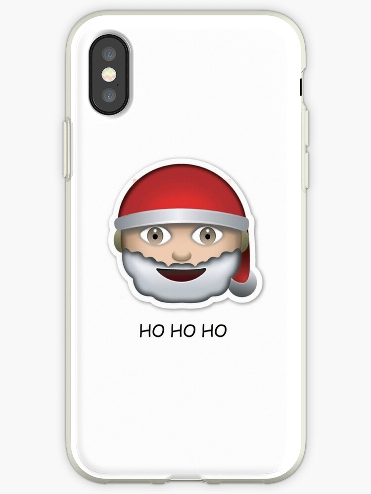 santa emoji ho ho ho christmas by rad merch