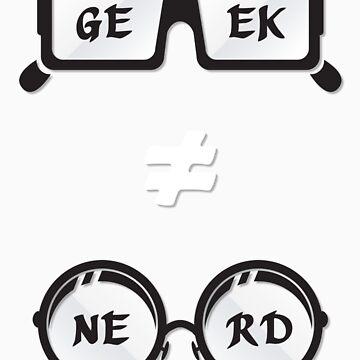 Geek Not Nerd by Oblonger