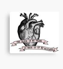 Jet Black Heart - 5SOS  Canvas Print