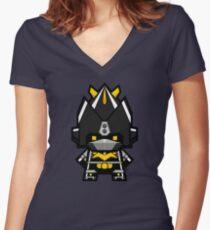 Mekkachibi Black Voltes Women's Fitted V-Neck T-Shirt