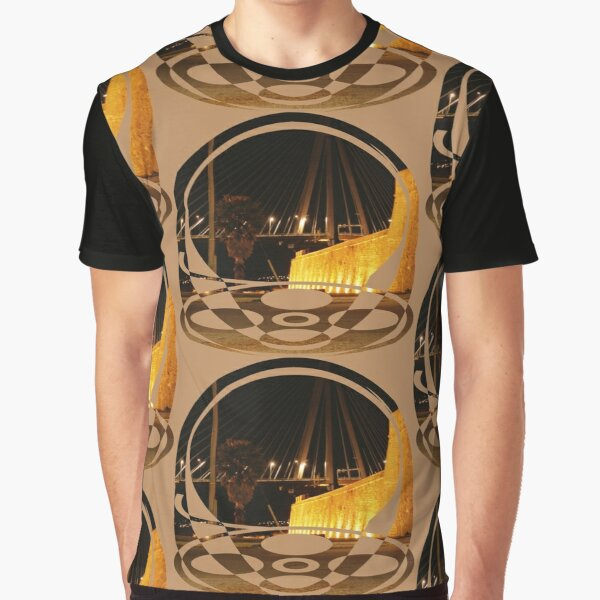 bridge and castle at night Graphic T-Shirt
