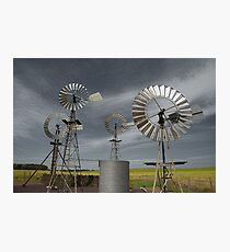 Rural Windmills Photographic Print