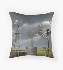 Rural Windmills Throw Pillow