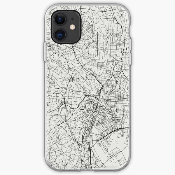 tokyo stadtplan transparenter hintergrund iPhone Flexible Hülle