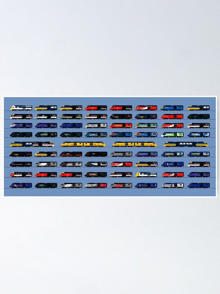 Alternate view of Class 43 HST intercity 125 liveries  Poster
