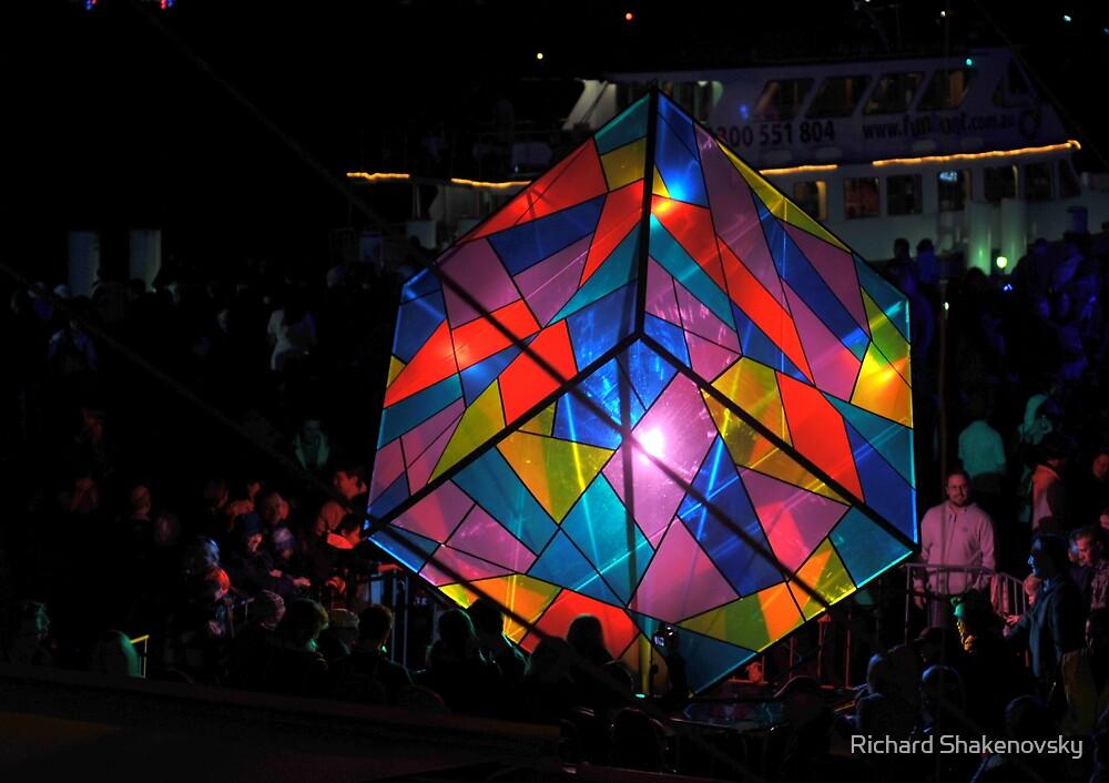 Colourful Cube by Richard Shakenovsky