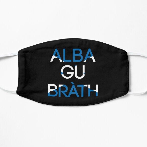 ALBA GU BRATH, Scottish Independence Saltire Flag Text Slogan Flat Mask