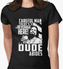 dude abides big lebowski  Women's Fitted T-Shirt