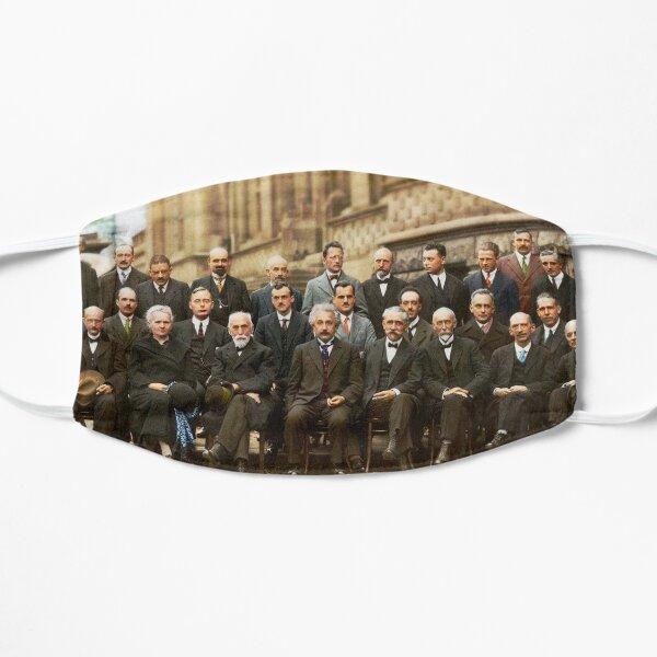 1927 Solvay Conference (spacetime bg), posters, prints Flat Mask