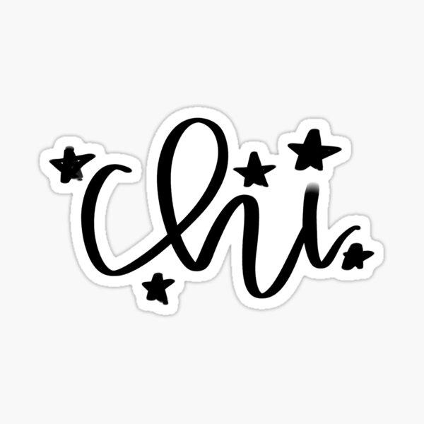 Chi - Greek Letter Sticker
