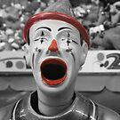 Black and white clown by Fizzgig7