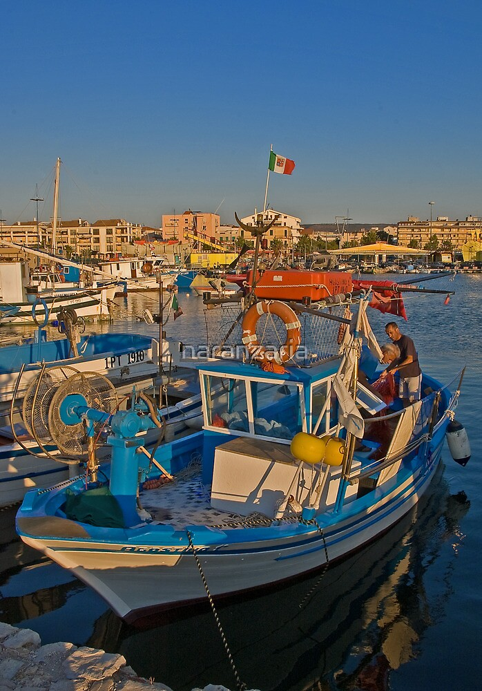 Sardinian fishing boat. by naranzaria