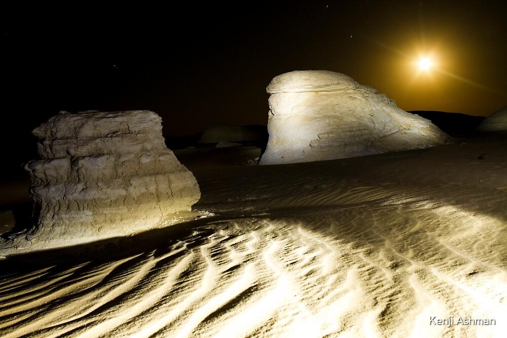 Desert landscape at night by Kenji Ashman