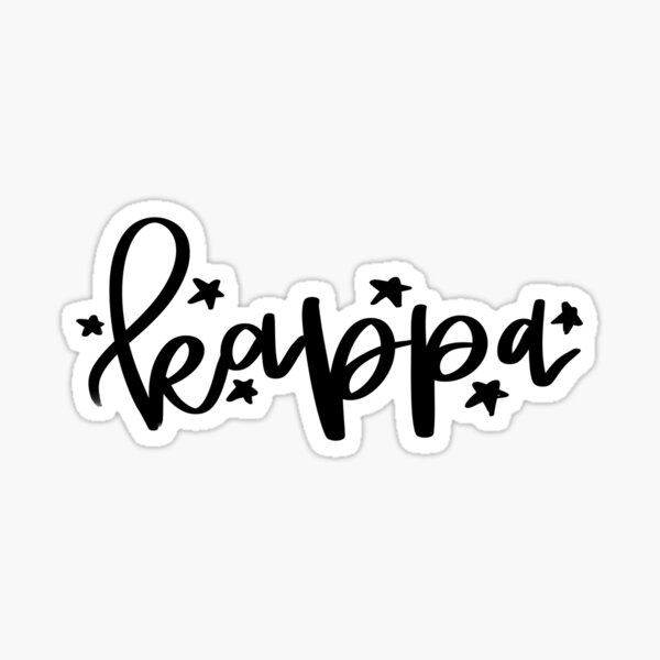Kappa - Greek Letter Sticker